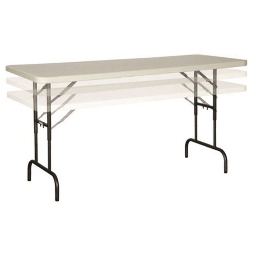 Polyfold Height Adjustable Folding Table
