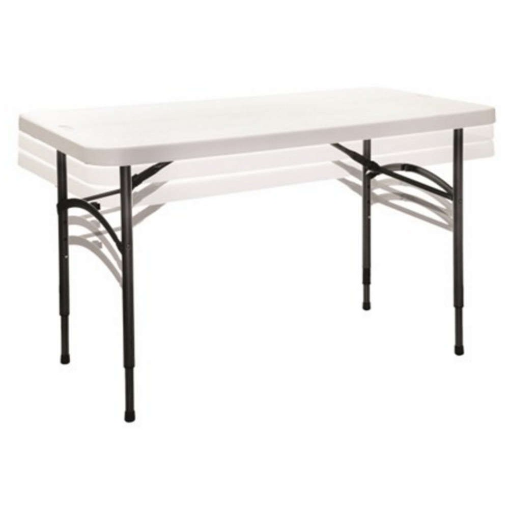 4ft Height Adjustable Polyfold Table