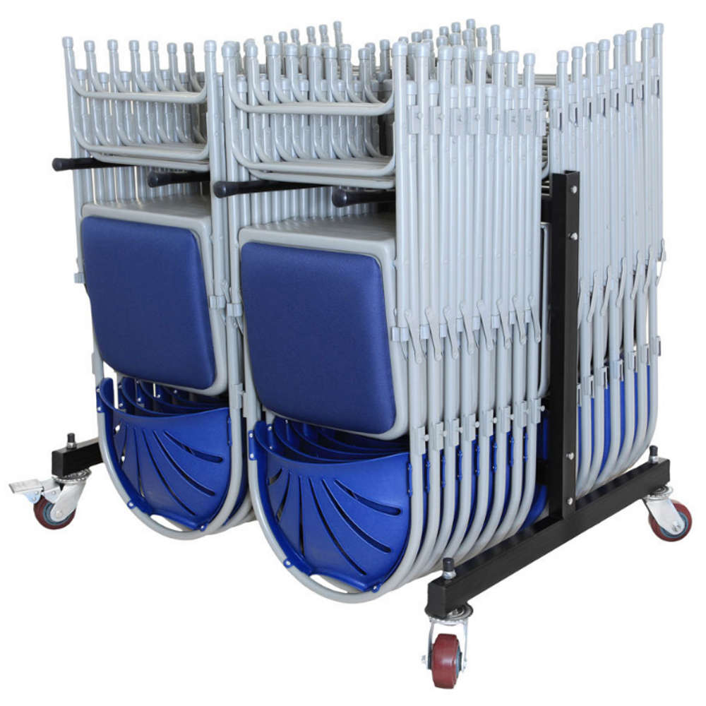 Folding Chair 2 Row Low Hanging Trolley
