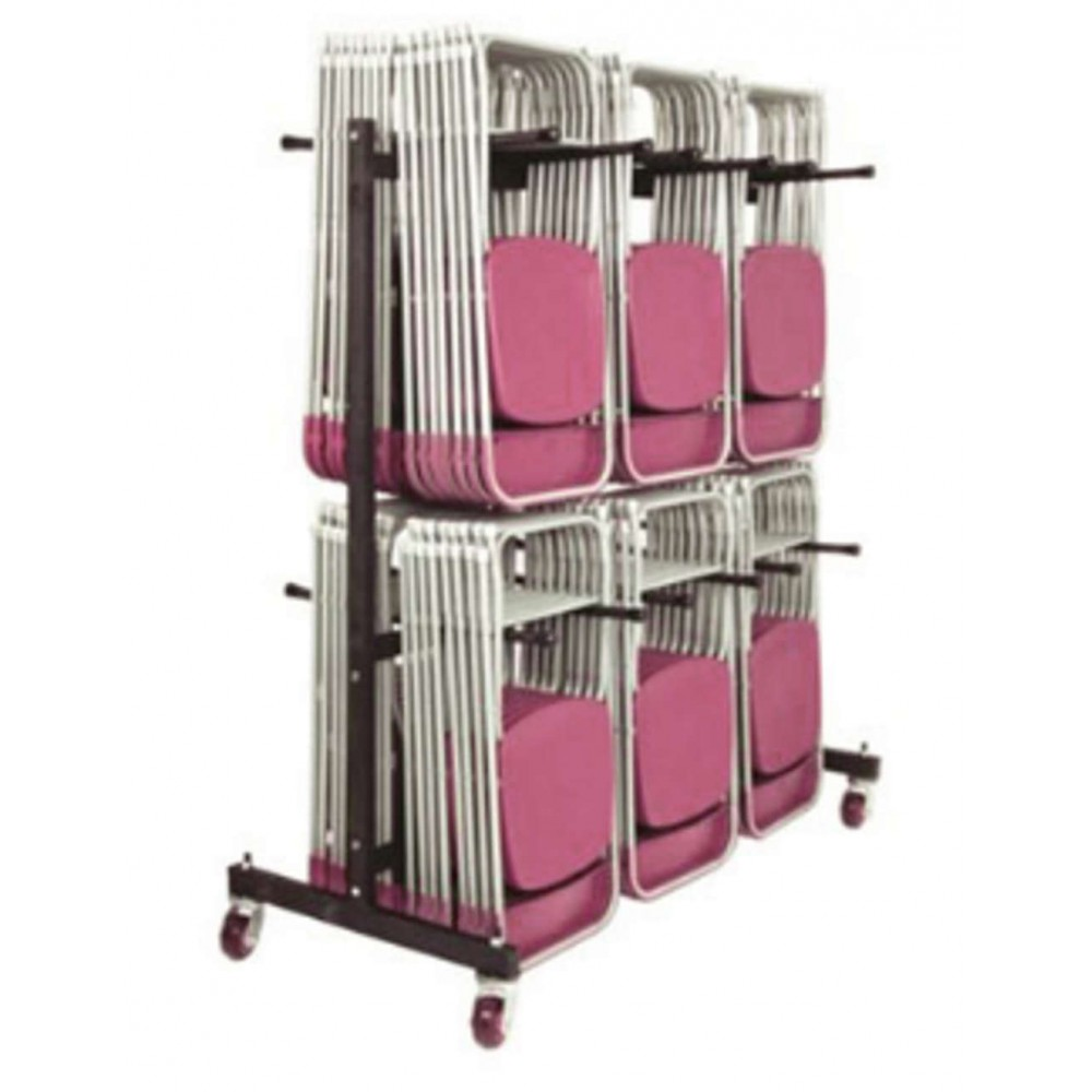 Folding Chair 3 Row High Hanging Trolley