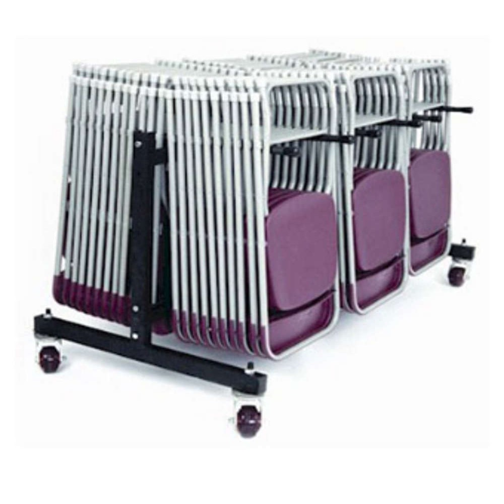 Folding Chair 3 Row Low Hanging Trolley
