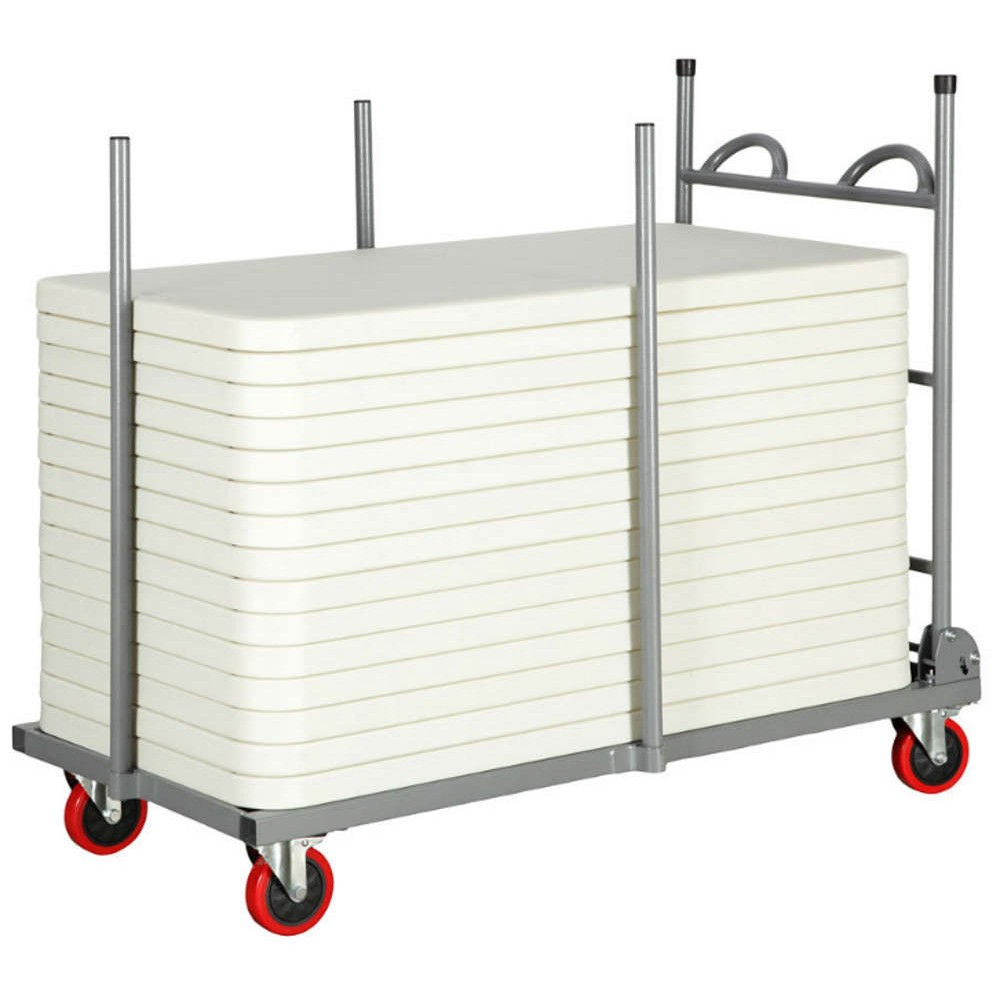 Small Rectangular Polyfold Table Trolley