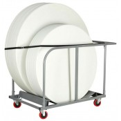 Poly Folding Table Trolleys