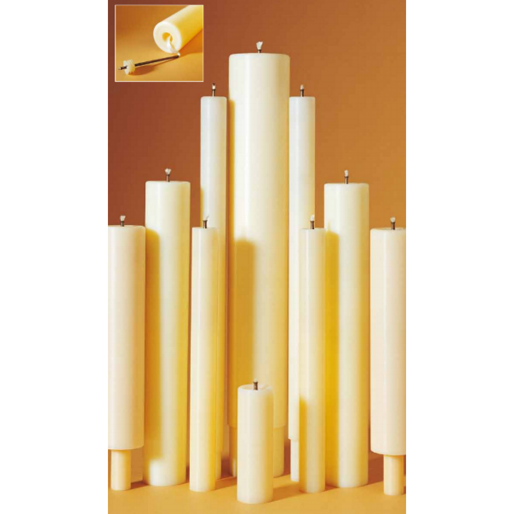 Oil filled candles 50mm 2inch 36 x 50mm oil filled candle for Oil filled candlesticks