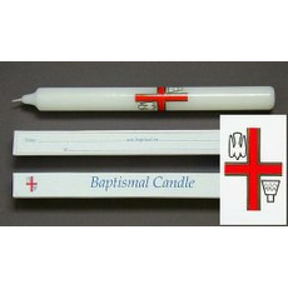 9 x 7/8 Baptismal Candle - Boxed - Pack of 24