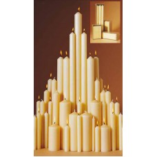 1 1/8inch Altar Candles with Beeswax