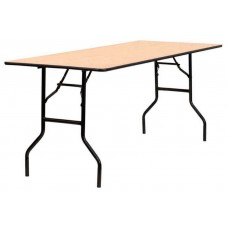 Wooden Rectangular Trestle Table
